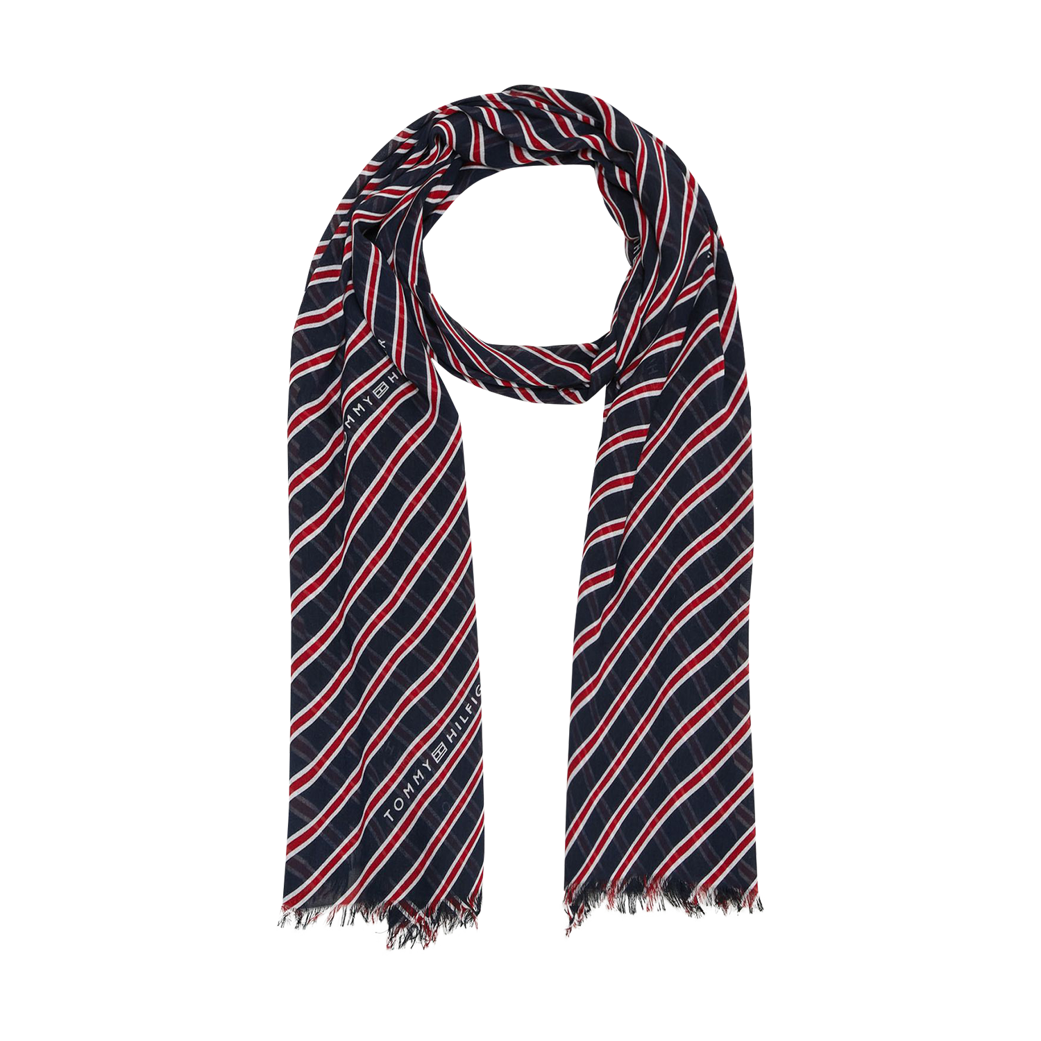 Tommy Hilfiger Regimental Stripes Print Scarf Sciarpa Donna