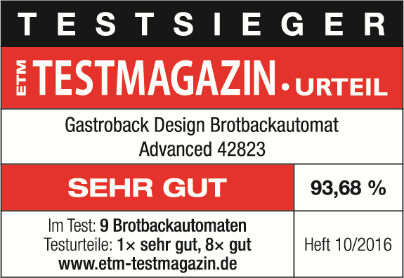Gastroback Advanced Design Brotbackautomat