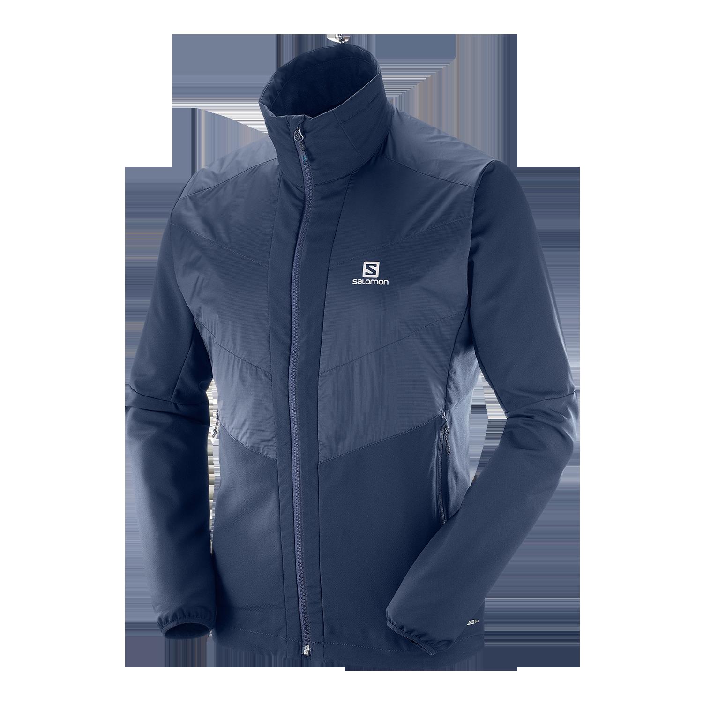 Salomon Agile Jacket Herren Jacke, Schwarz Lufthansa WorldShop
