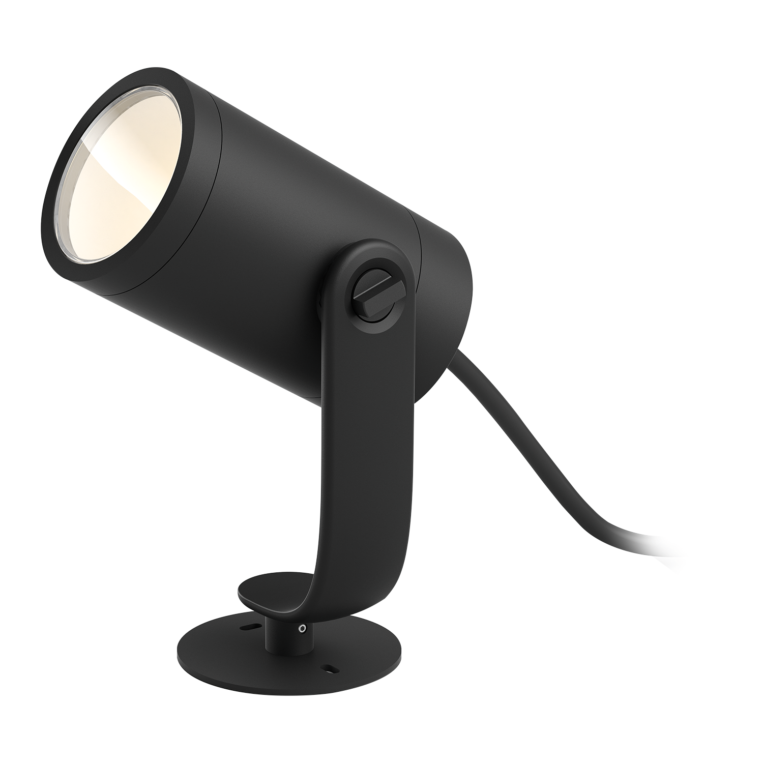 Philips Hue Lily LED Gartenstrahler Basis Set, Schwarz