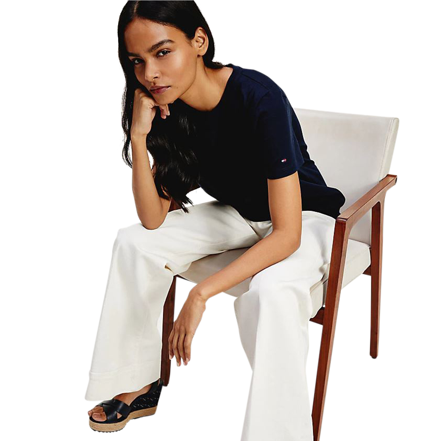 Tommy Hilfiger TH Cool Ess Relaxed C-Neck Tee T-Shirt, Damen Kurzarm, Desert Sky