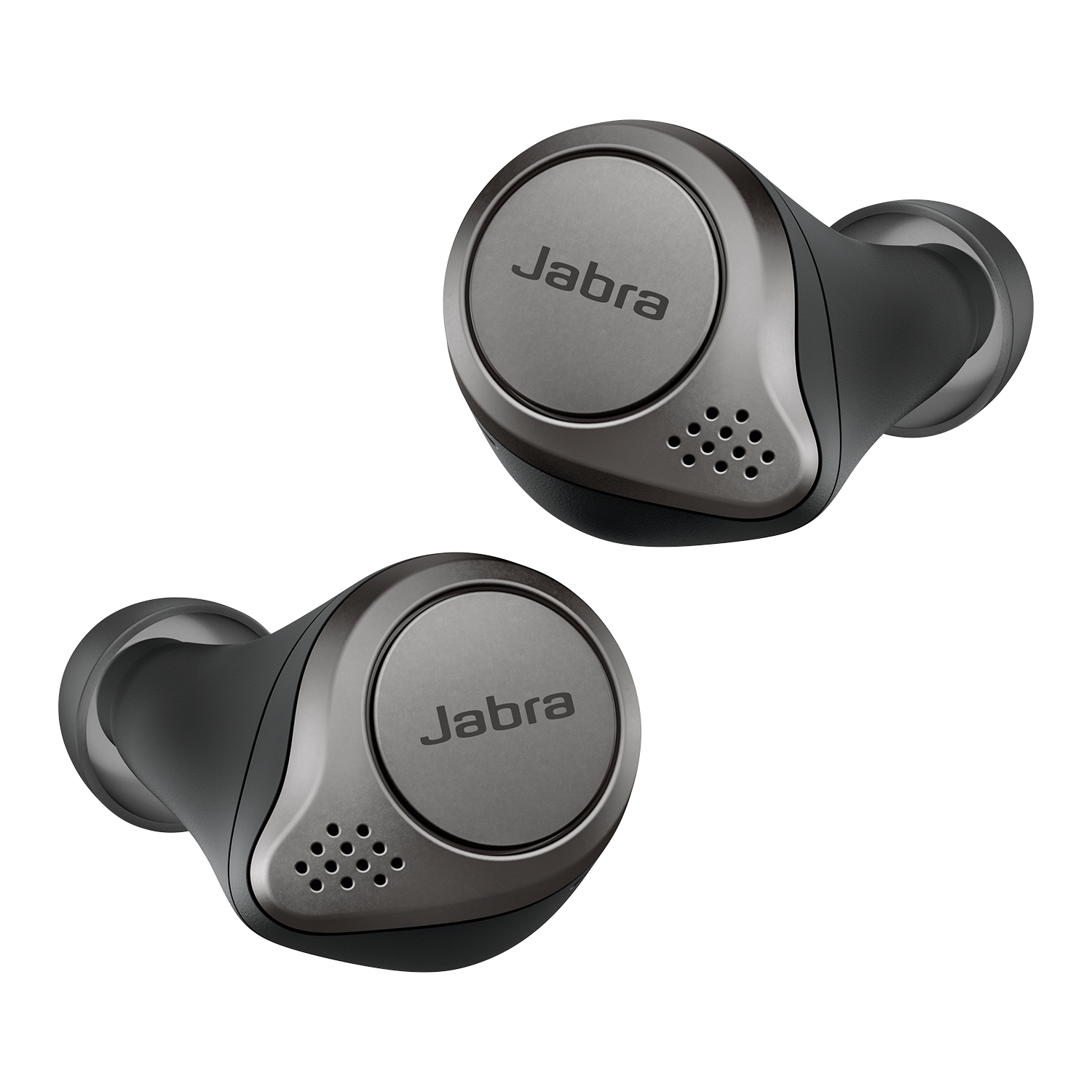 Jabra Elite 75t True-Wireless-In-Ear-Kopfhörer, Titanium Black