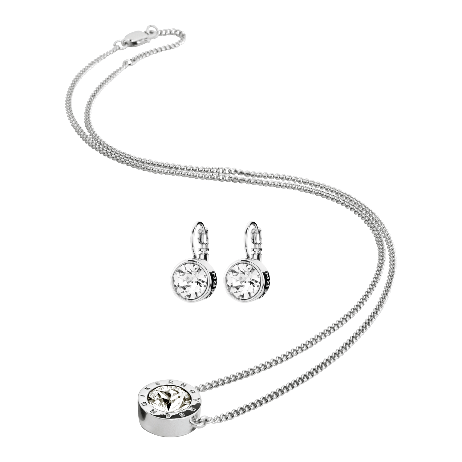 139a6e2e Dyrberg/Kern Louise Jewellery Set, Stainless Steel/Crystal ...
