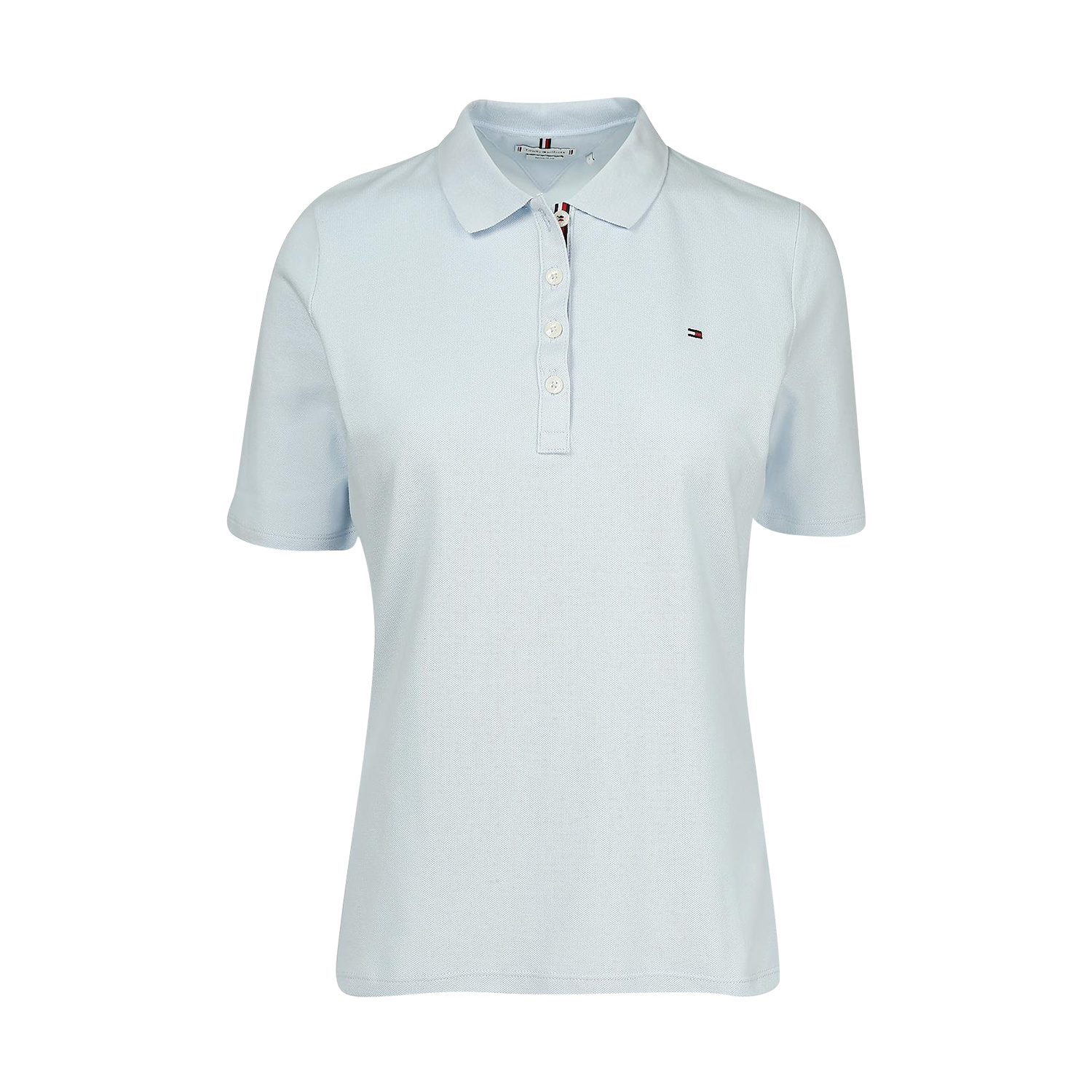 Tommy Hilfiger TH Essential Regular Poloshirt, Damen Kurzarm, Breezy Blue