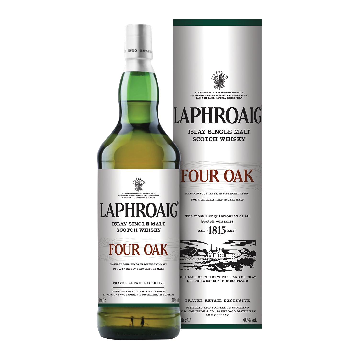 Laphroaig Four Oak Single Malt Whisky, 1l, 40,0%, Schottland