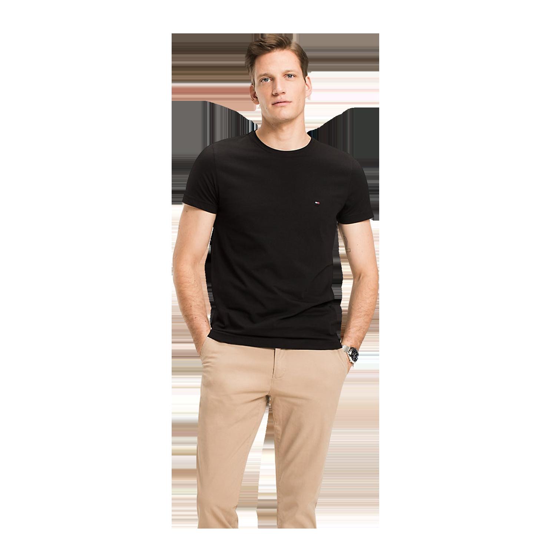 size 40 0d82a 39e62 Tommy Hilfiger Core Stretch Slim C-Neck T-Shirt for Men ...