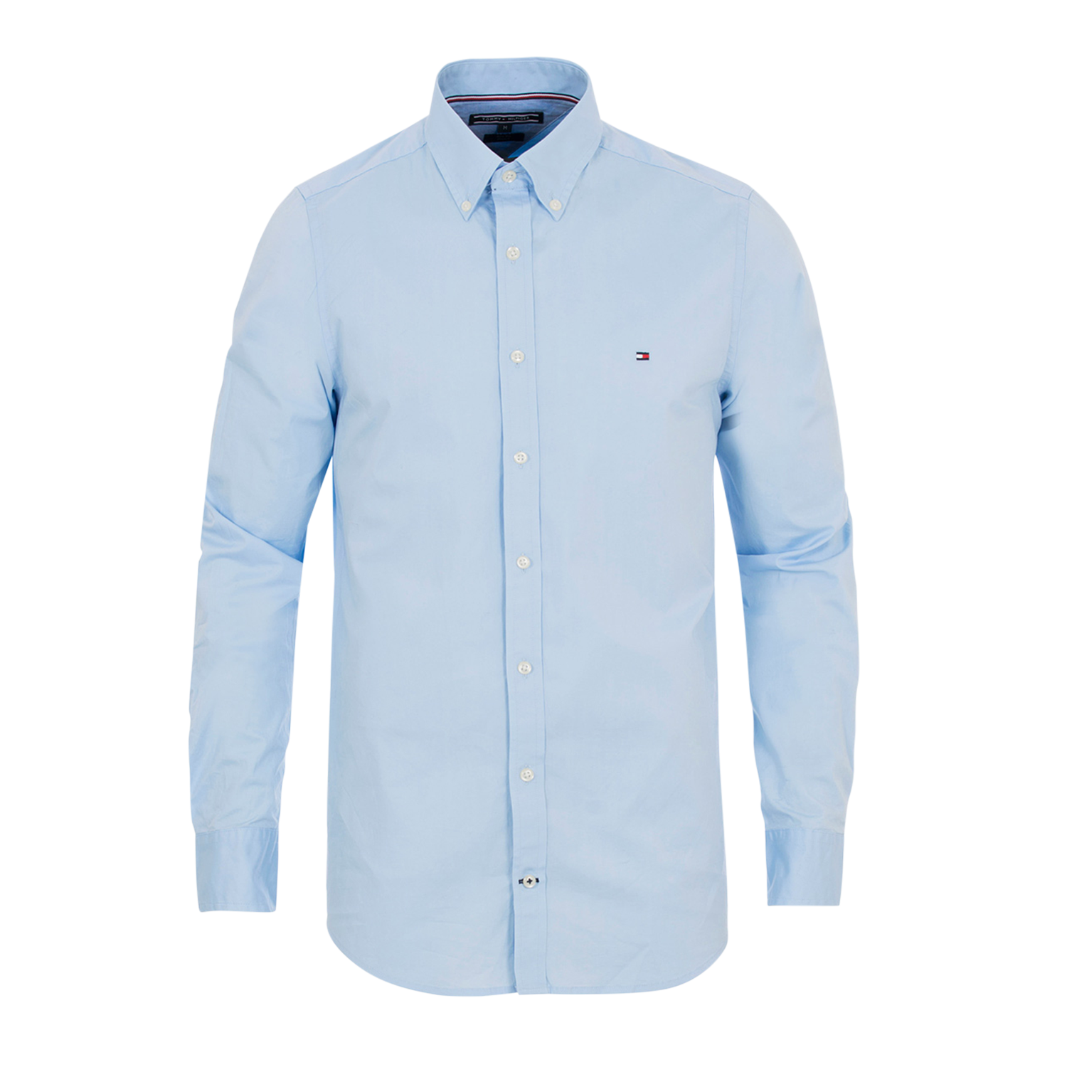 Tommy Hilfiger Core Stretch Slim Poplin Herren-Hemd, Shirt Blue